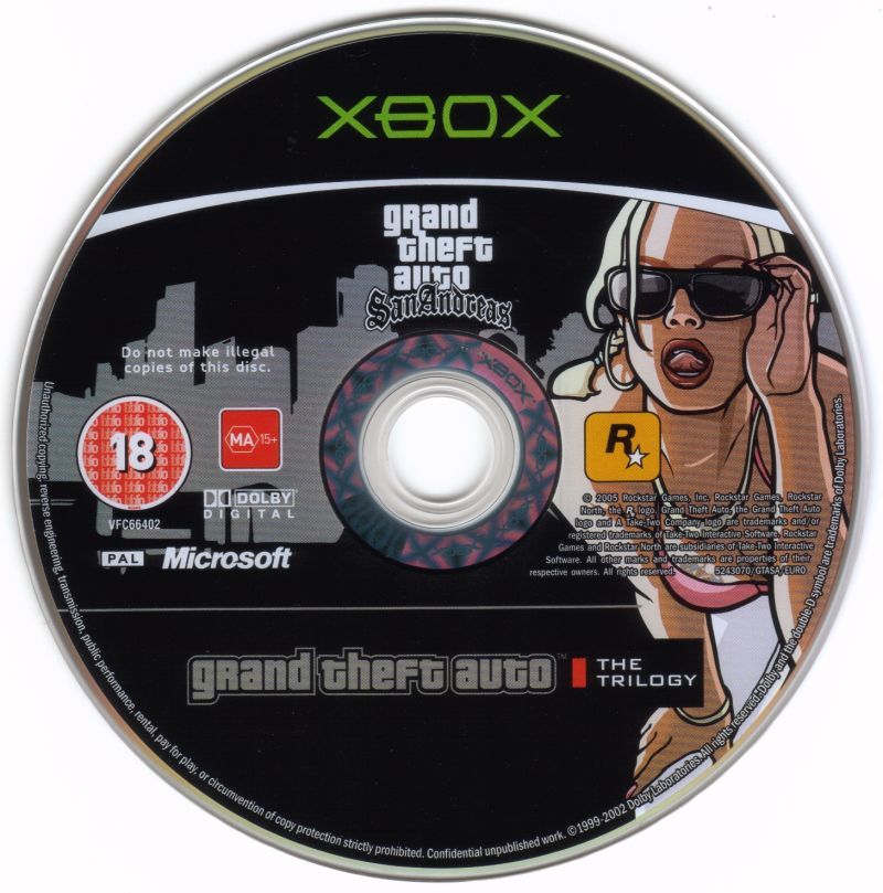 Grand Theft Auto: The Trilogy Xbox Media Grand Theft Auto: San Andreas