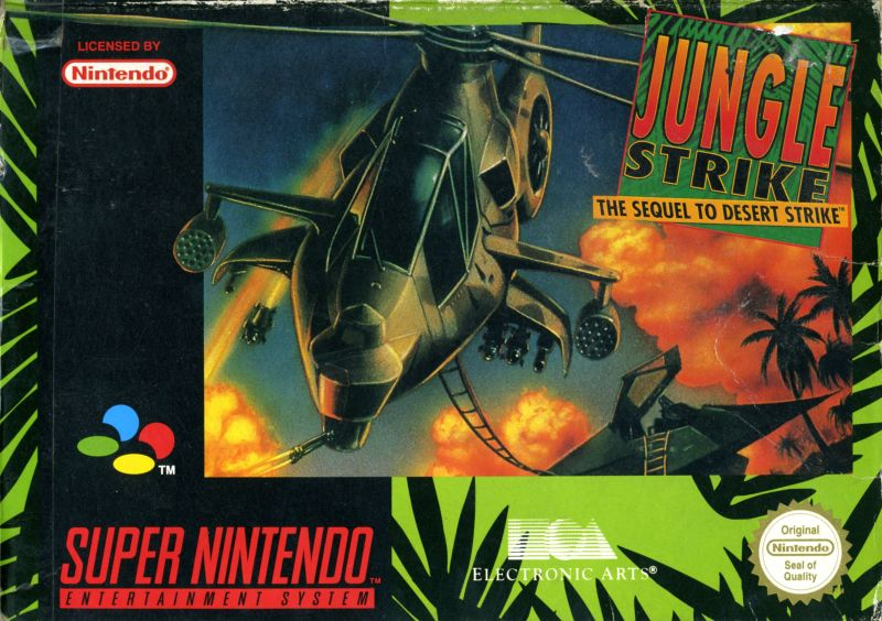 Jungle Strike SNES Front Cover