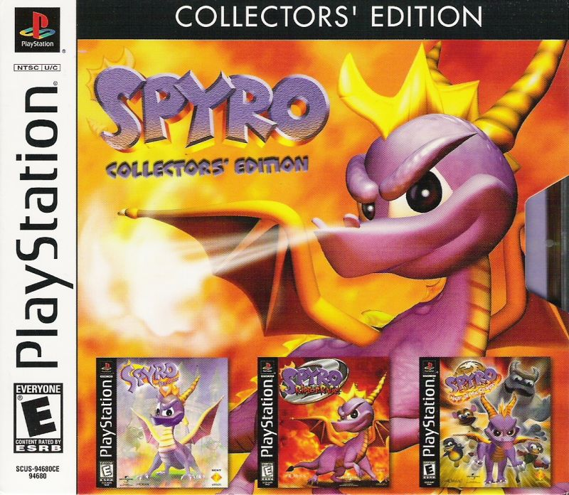 Spyro: Collector's Edition PlayStation Front Cover