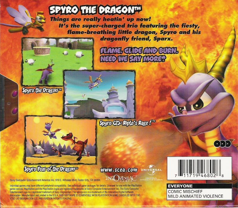 Spyro: Collector's Edition PlayStation Back Cover
