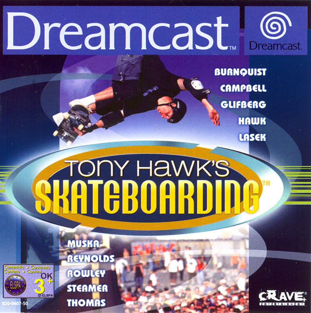 Tony Hawk's Pro Skater Dreamcast Front Cover