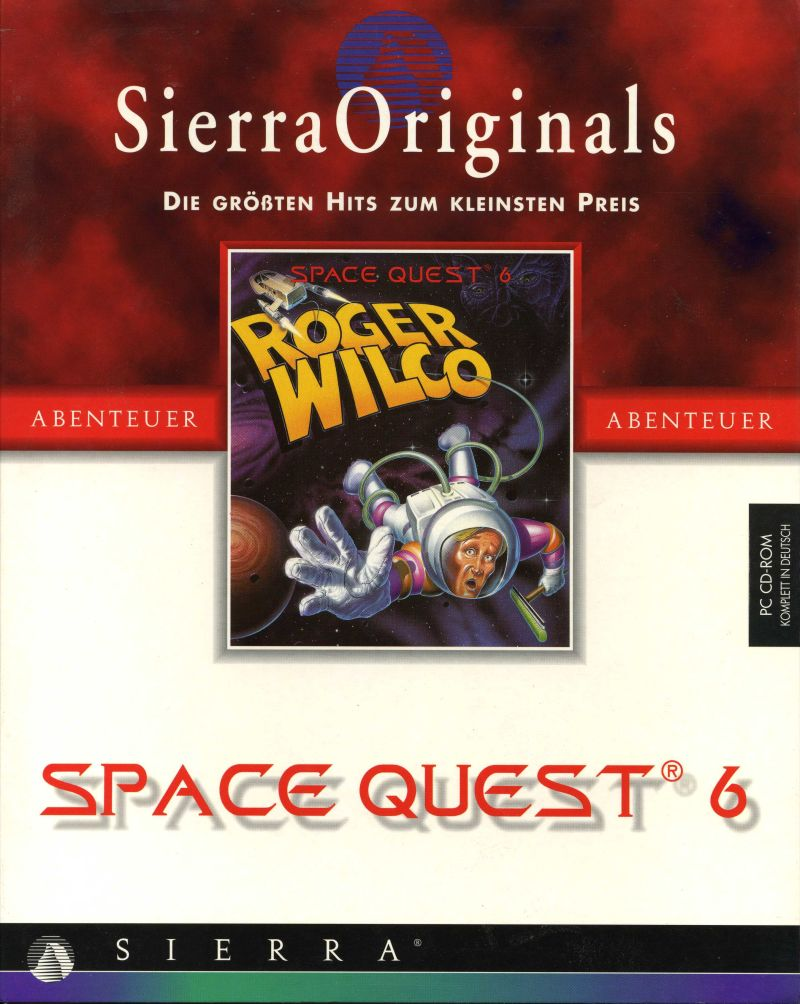 Space Quest 6: Roger Wilco in the Spinal Frontier DOS Front Cover
