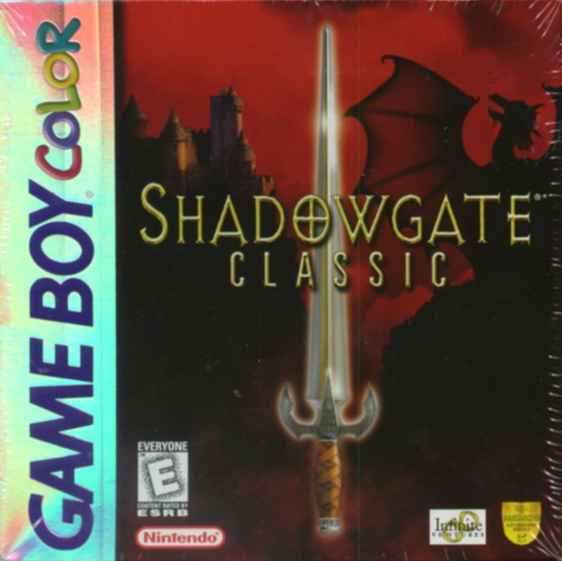 Shadowgate Classic Game Boy Color Front Cover