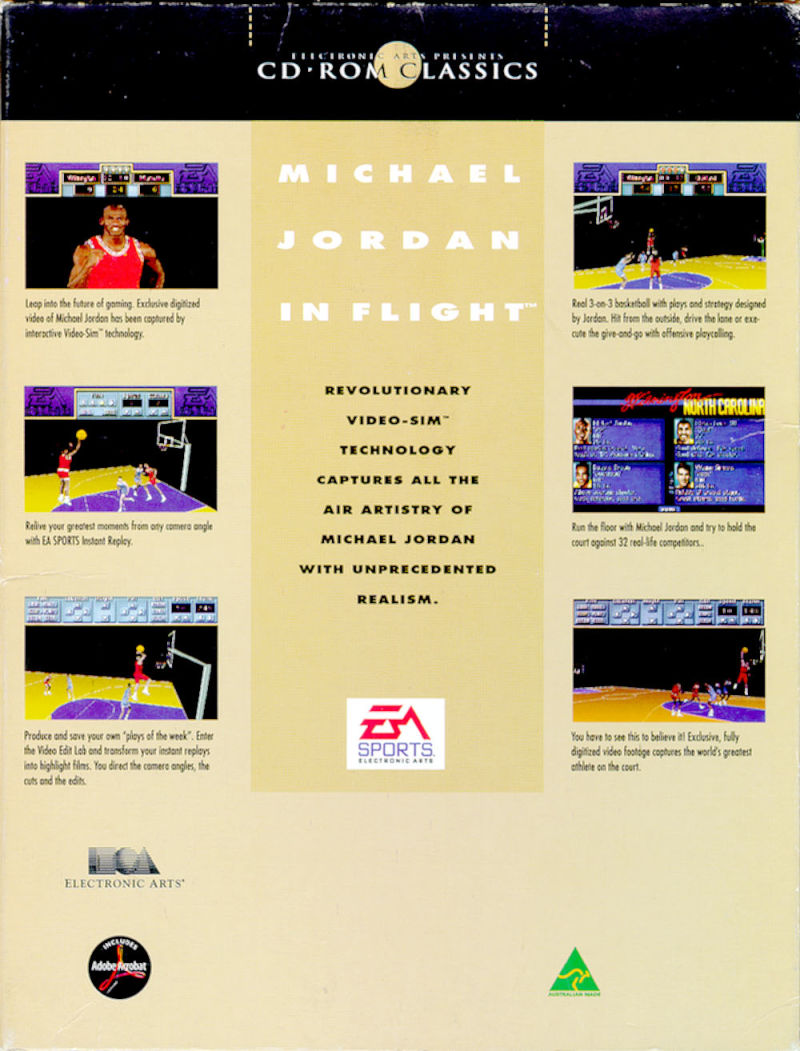 Michael Jordan in Flight DOS Back Cover