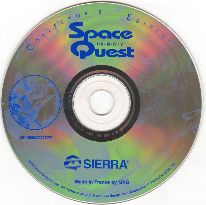 Space Quest (Collector's Edition) DOS Media