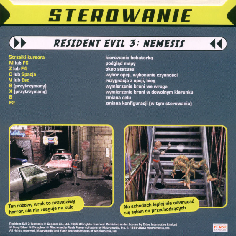 Resident Evil 3: Nemesis Windows Back Cover Disc 1/2