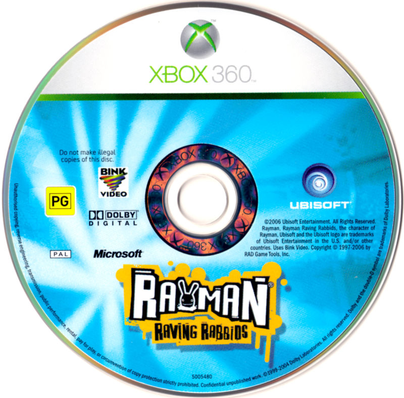 Rayman Raving Rabbids Xbox 360 Media