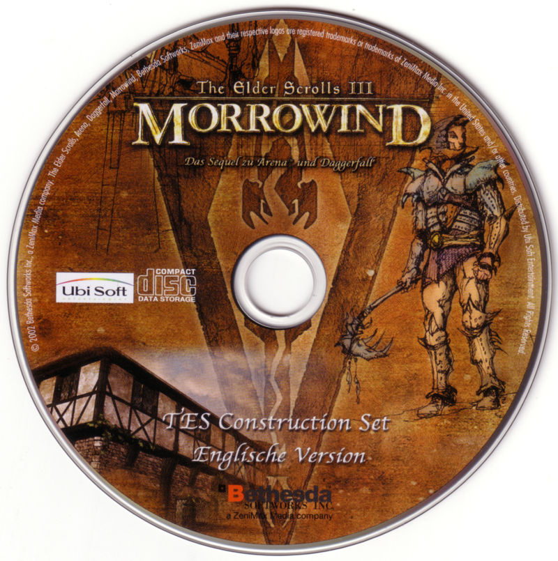 The Elder Scrolls III: Morrowind Windows Media Construction Set Disc