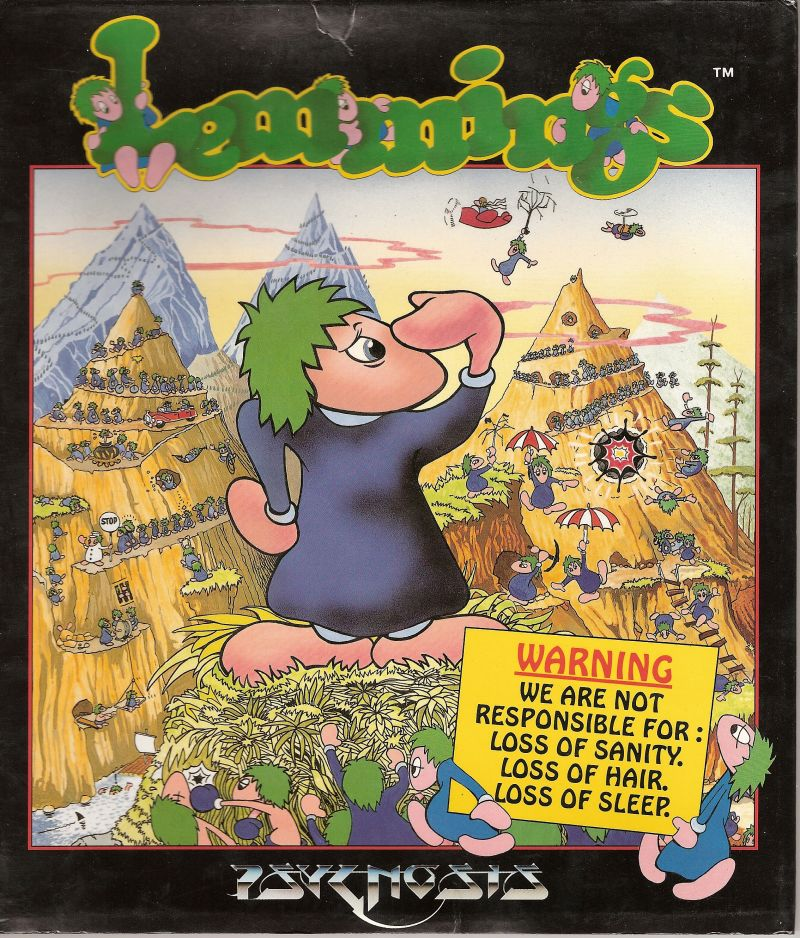 Lemmings Commodore 64 Front Cover