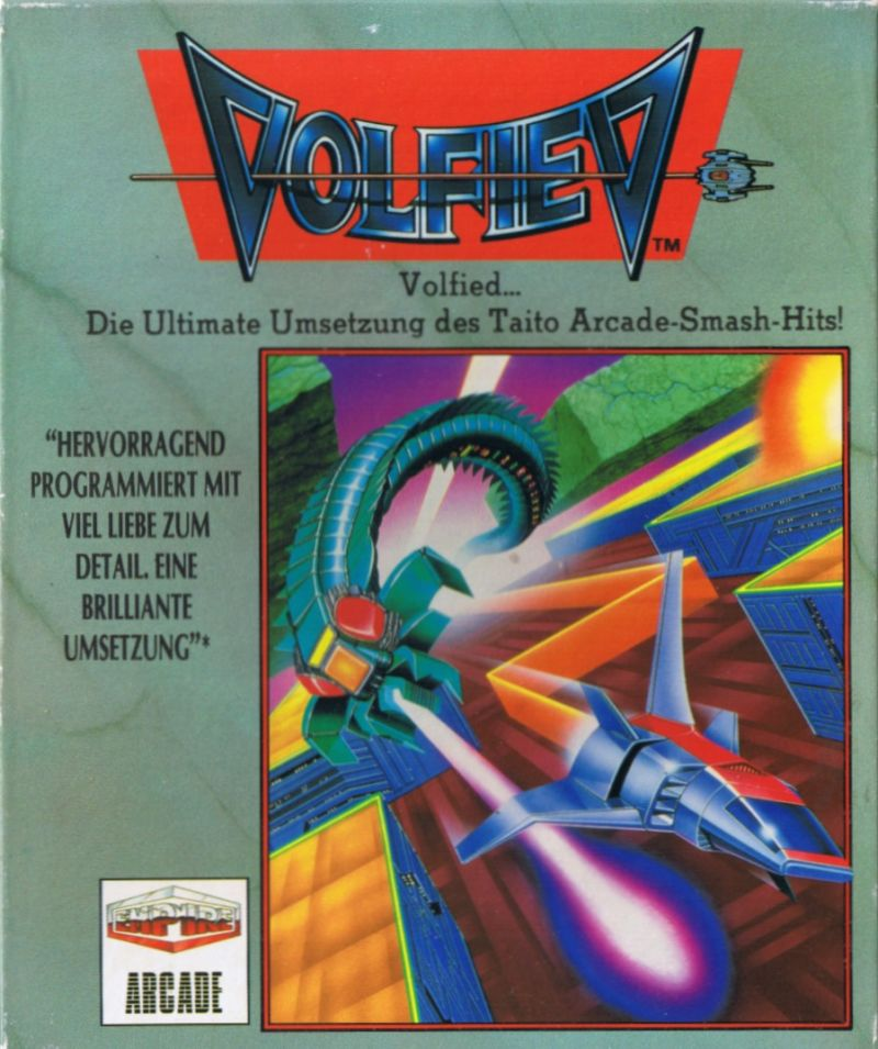 Volfied Amiga Front Cover