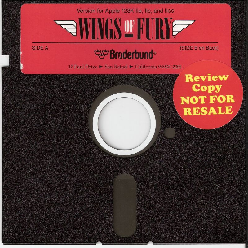 Wings of Fury Apple II Media
