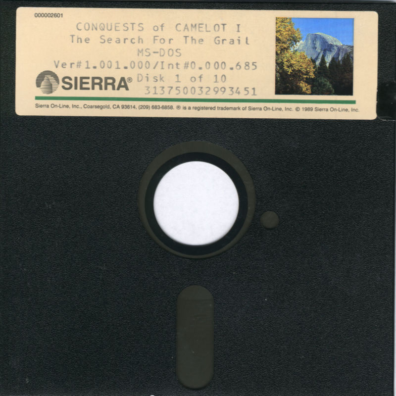 Conquests of Camelot: The Search for the Grail DOS Media Disk 1/10