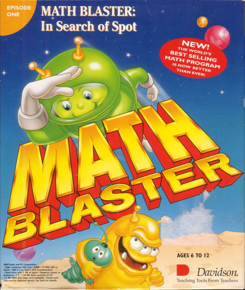 Math Blaster: Episode One - In Search of Spot for DOS (1993