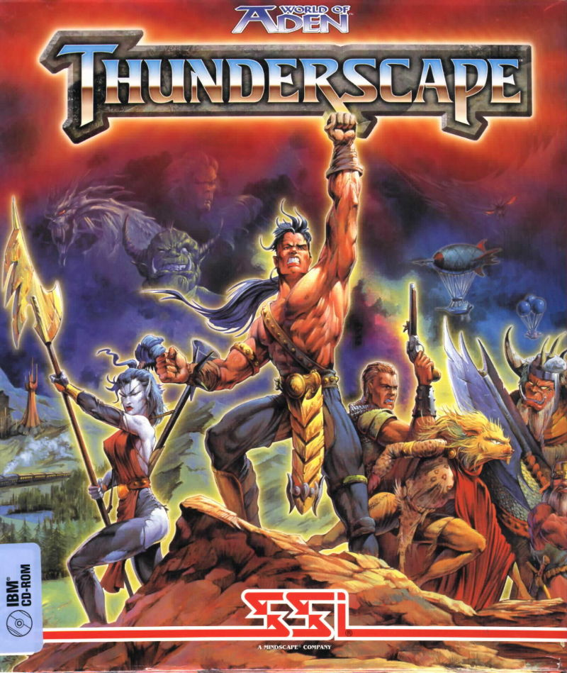World of Aden: Thunderscape DOS Front Cover