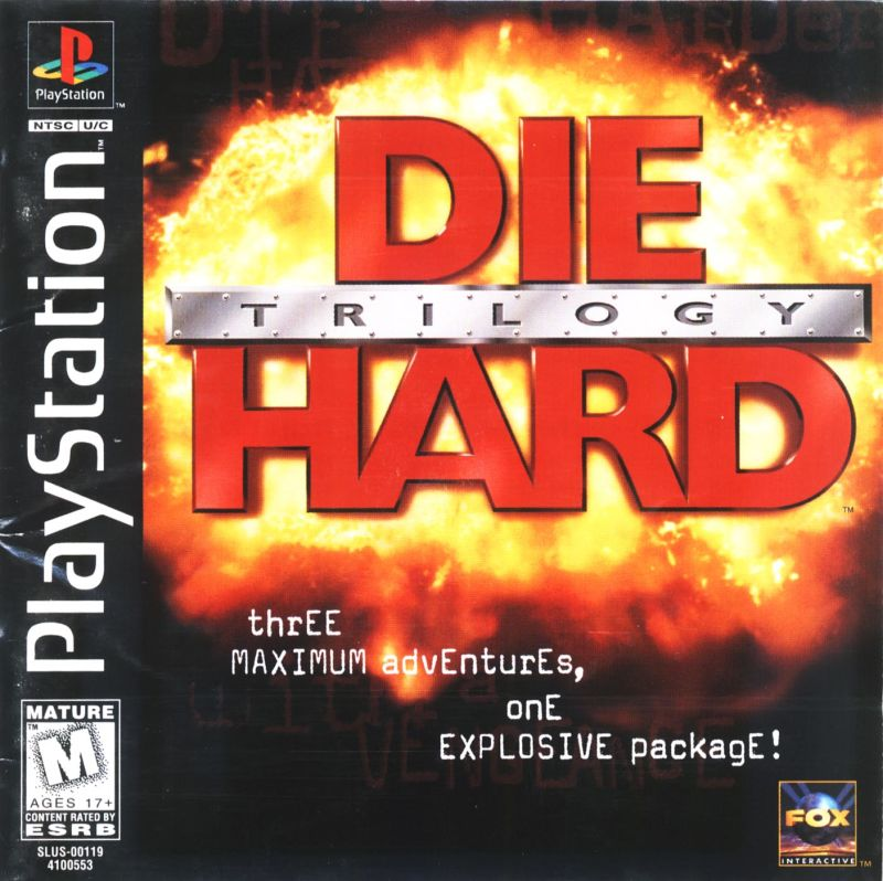 Die Hard Trilogy PlayStation Front Cover