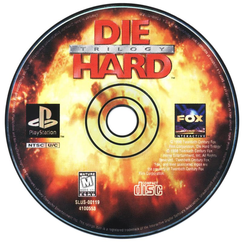 Die Hard Trilogy PlayStation Media