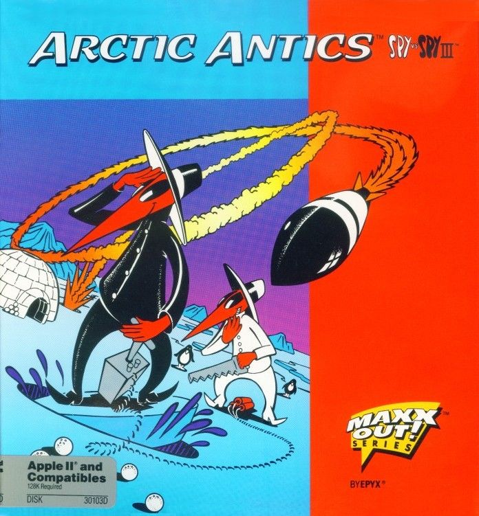 Spy vs. Spy III: Arctic Antics Apple II Front Cover