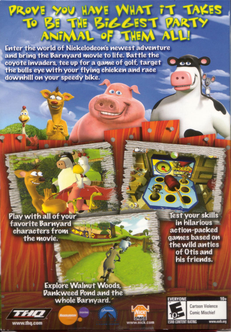 Barnyard Windows Back Cover