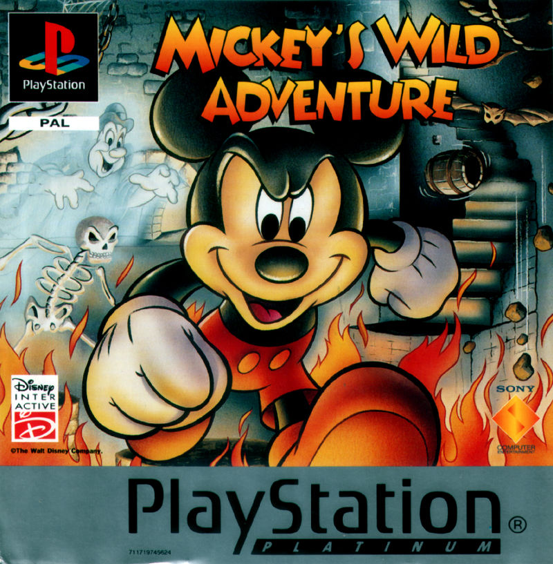 Mickey Mania PlayStation Front Cover