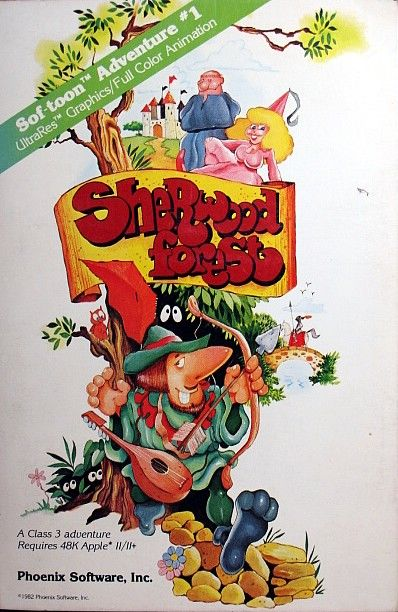 Sherwood Forest Apple II Front Cover