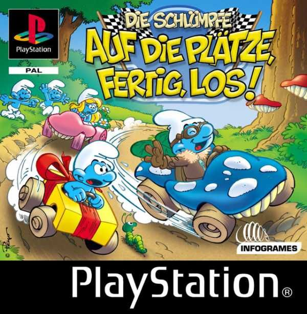 Smurf Racer PlayStation Front Cover