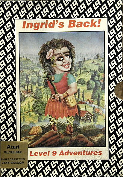 Ingrid's Back! Atari 8-bit Front Cover