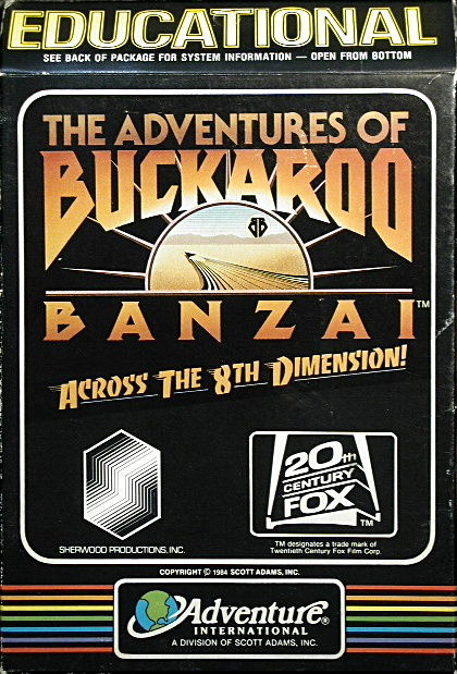 The Adventures of Buckaroo Banzai: Across the Eighth Dimension Atari 8-bit Front Cover