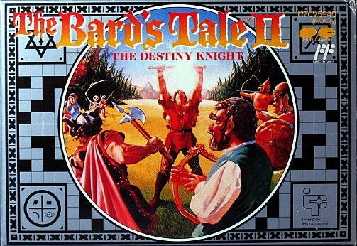 The Bard's Tale II: The Destiny Knight NES Front Cover