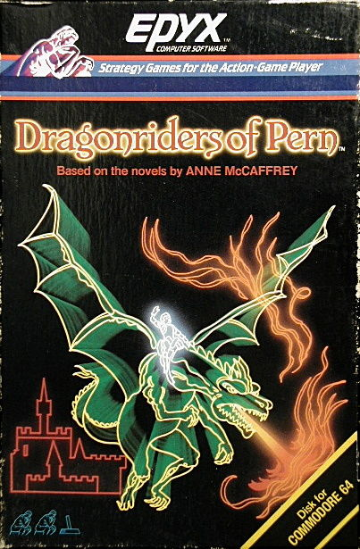 Dragonriders of Pern Commodore 64 Front Cover