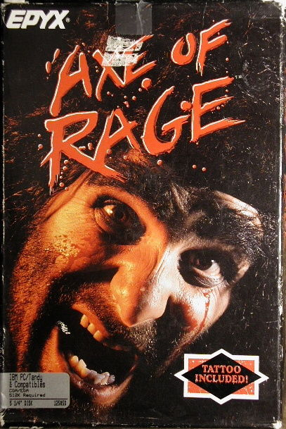 Axe of Rage DOS Front Cover