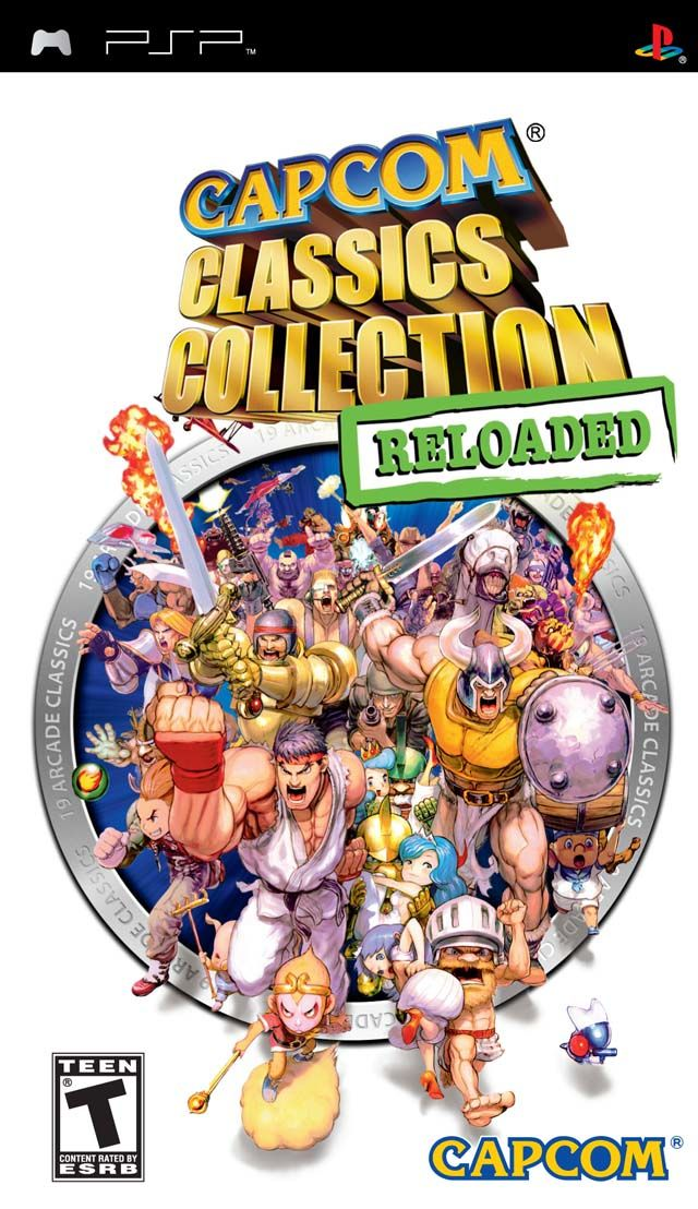 Capcom Classics Collection Reloaded PSP Front Cover