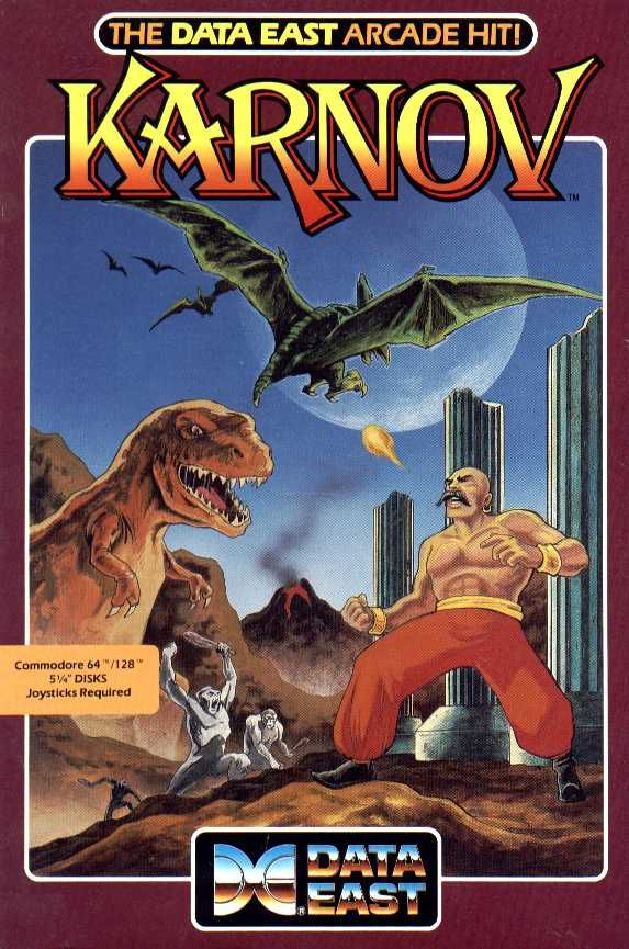 Karnov Commodore 64 Front Cover