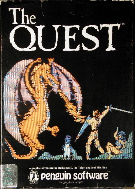 The Quest Atari 8-bit Front Cover