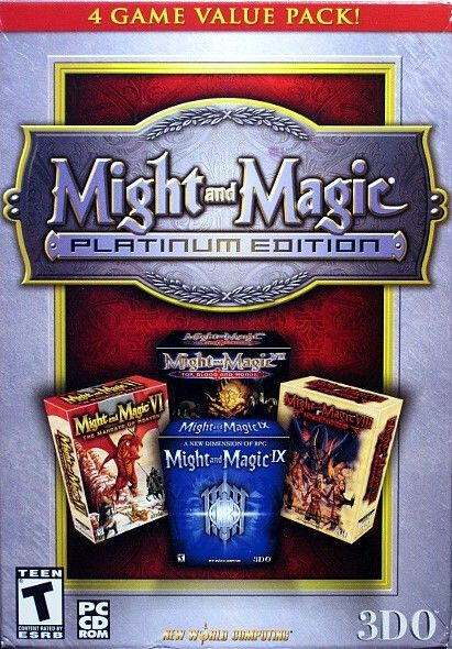 Might and Magic: Platinum Edition Windows Front Cover
