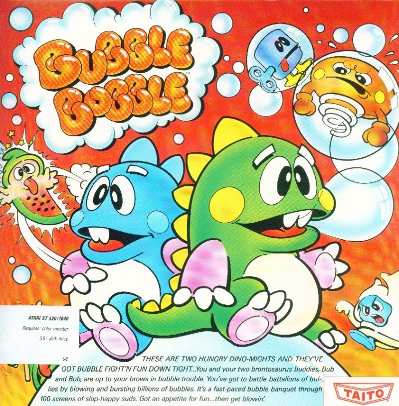 Bubble Bobble Atari ST Front Cover