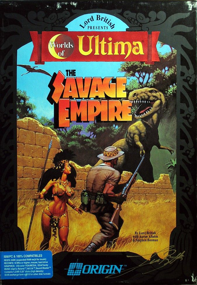 Worlds of Ultima: The Savage Empire DOS Front Cover