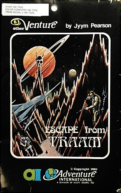 Escape from Traam Atari 8-bit Front Cover