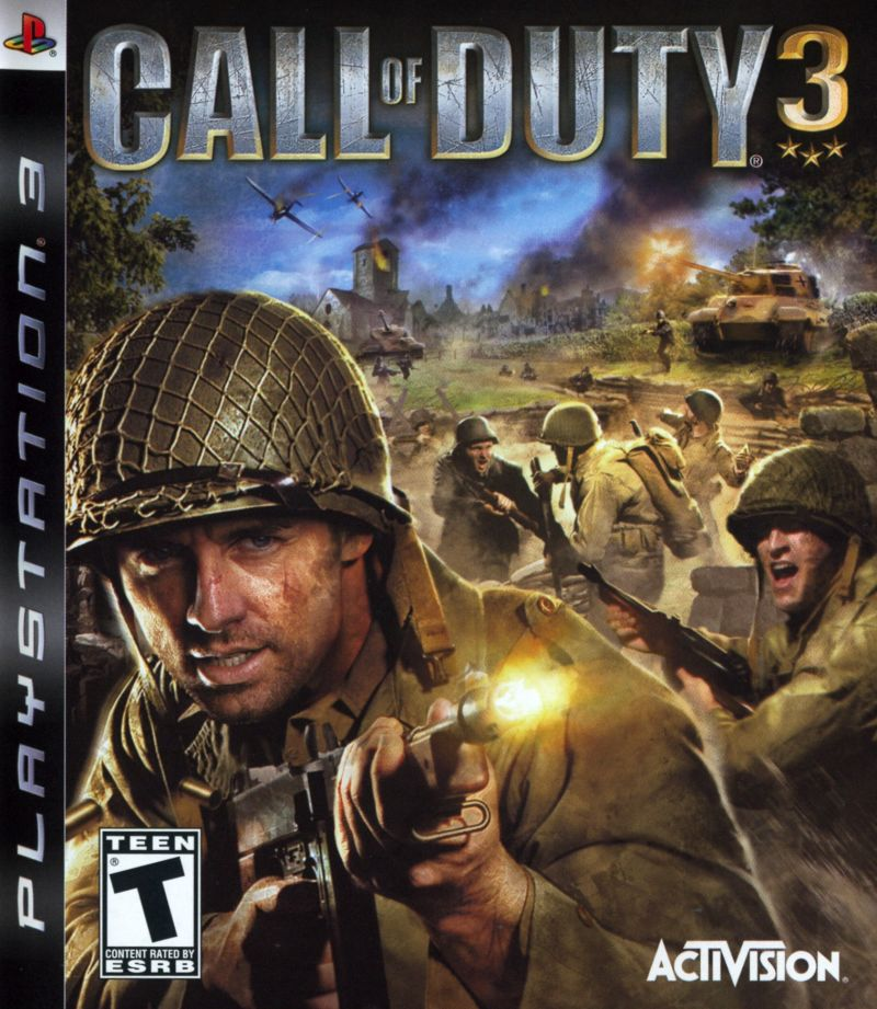 Call of Duty 3 PlayStation 3 Front Cover