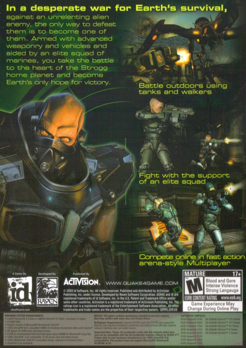 Quake 4 Windows Other Keep Case - Back