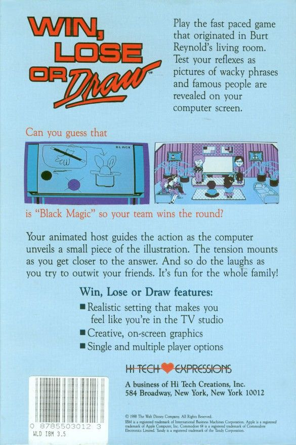 Win Lose Or Draw 1988 Dos Box Cover Art Mobygames