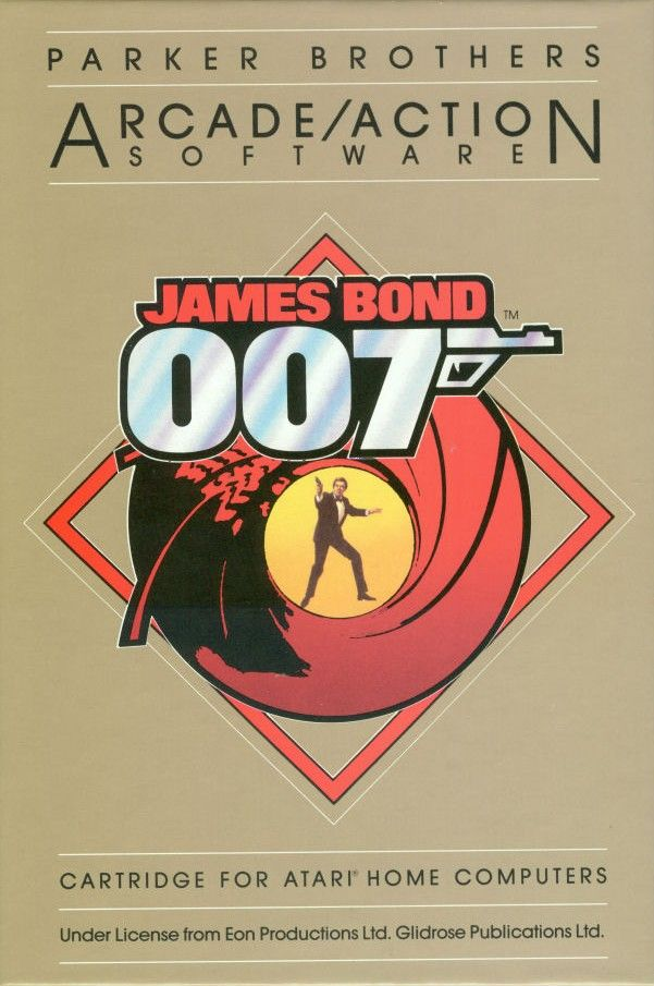 James Bond 007 Atari 8-bit Front Cover