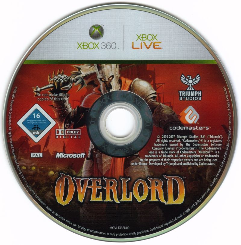 Overlord Xbox 360 Media