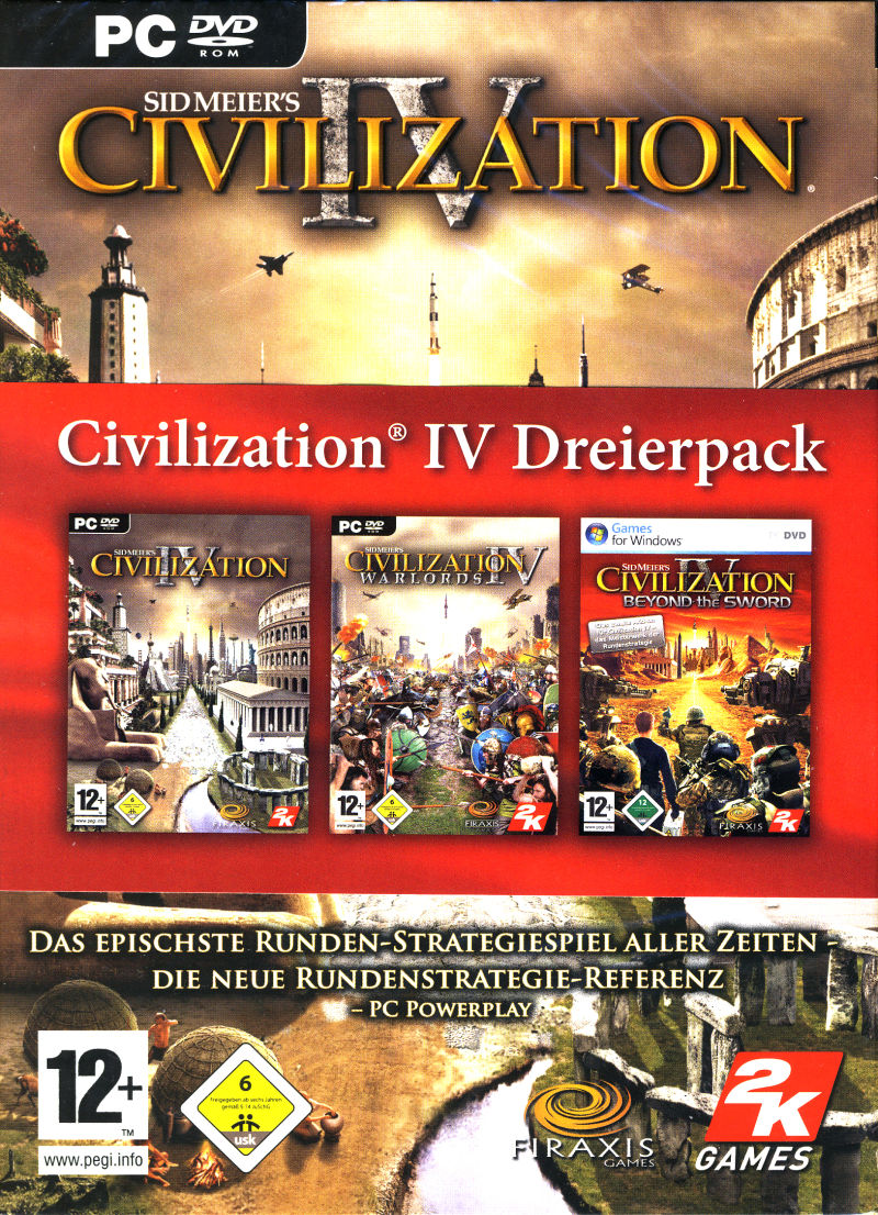 Civilization IV Dreierpack Windows Front Cover