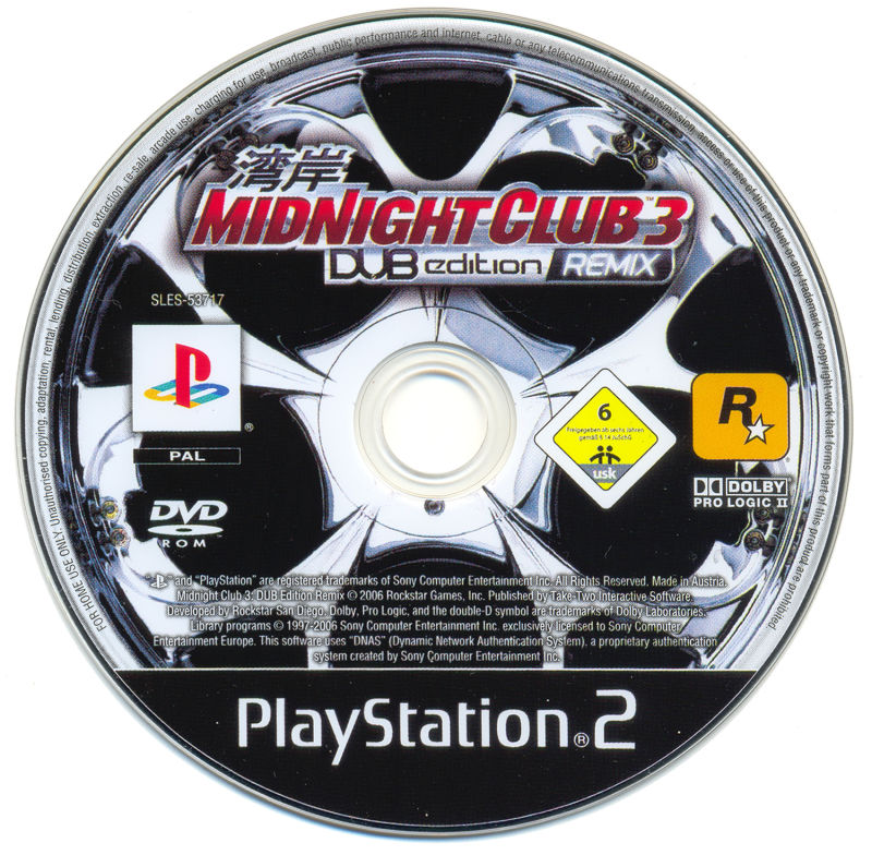 midnight club 3 remix ps2