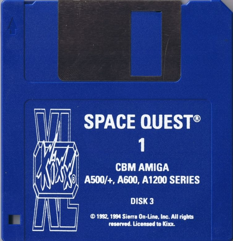 Space Quest I: Roger Wilco in the Sarien Encounter Amiga Media Disk 1 of 6