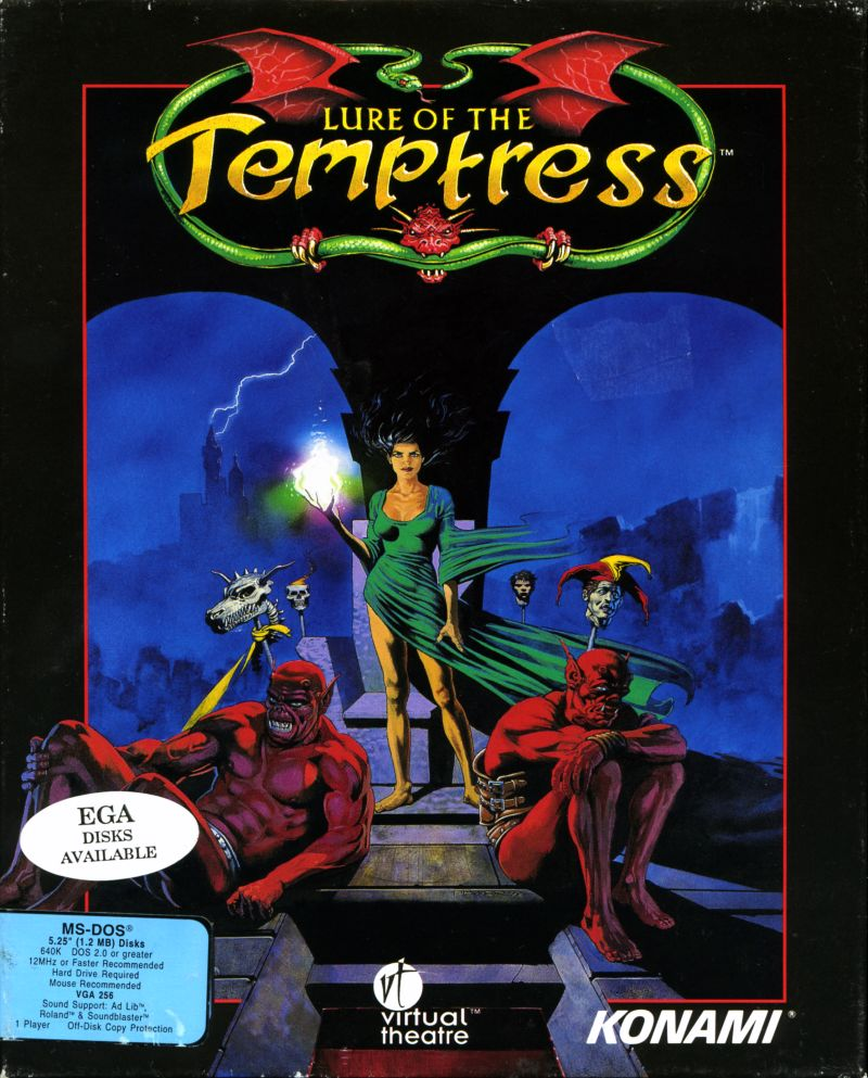 Lure of the Temptress DOS Front Cover