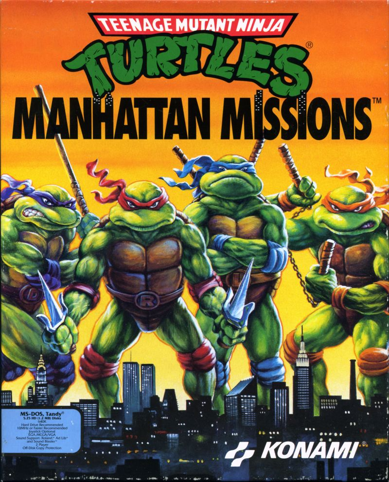 Teenage Mutant Ninja Turtles: Manhattan Missions DOS Front Cover
