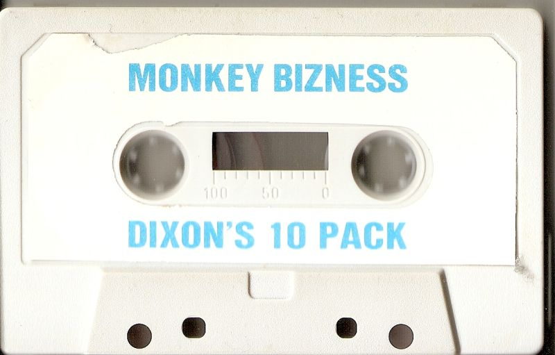 Monkey Bizness ZX Spectrum Media Dixon's pack cassette, outer packaging is identical