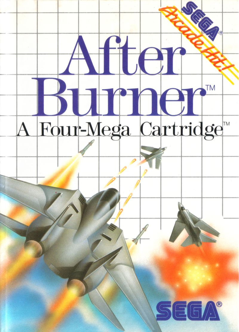 After Burner SEGA Master System Front Cover