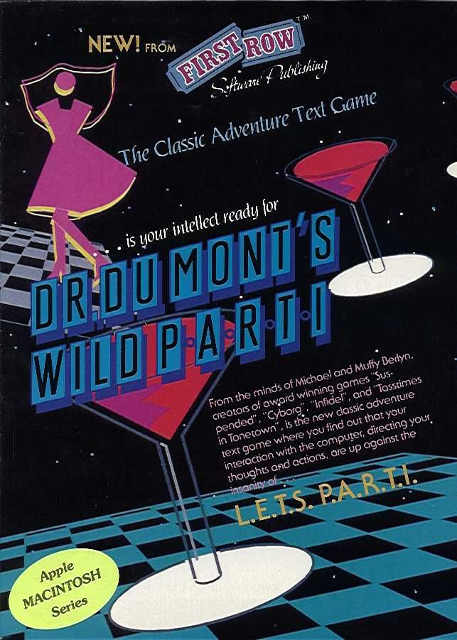 Dr. Dumont's Wild P.A.R.T.I. Macintosh Front Cover